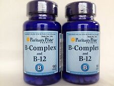 2 Puritan's Pride  Vitamin B-Complex And Vitamin B-12  180 Tablets - Value Pack