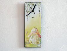 Cute Mushroom Hut Drawing - Wall Clock