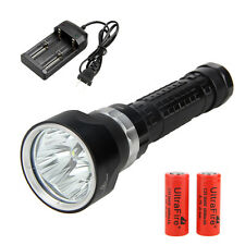 SolarStorm 9000Lm 4x CREE XM-L2 LED Scuba Diving Flashlight Torch Light 2x26650