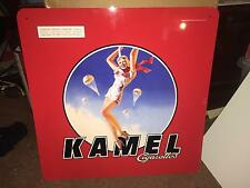 KAMEL CIGARETTE PARACHUTE PIN UP GIRL TIN SIGN