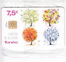 FRANCE TELECARTE / PHONECARD .. TONEO CT 7€50 GEM1A ARBRES 31/12/2015 NSB/NEUVE