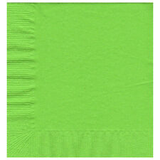 50 Plain Solid Colors Luncheon Dinner Napkins Paper - Citrus Green/Lime