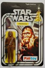 PALITOY 1977 VINTAGE CHEWBACCA ON STAR WARS 12 BACK A NEW HOPE CARD