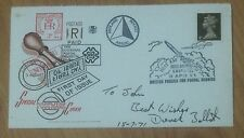 UK cover - 1971 Queen Machin stamp 1st RAF Rocket Mail (2 pic)
