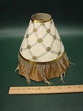 "MacKenzie-Childs ""Back Hall"" Beaded Retired Paper Shade Chandelier"