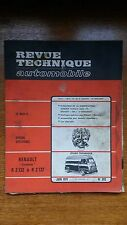 RTA Revue technique automobile n° 302 Renault estafette Citroen serie H / 504