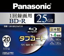 New! 20 Panasonic BD-R 25GB 6X Speed Inkjet Printable Blu ray Disc Made in Japan