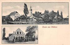 Gruss aus Röderau / Zeithain Bäckderei Materialwaren Postkarte