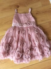 MONSOON Pink DRESS Flower Girl Bridesmaid age 3-4  (Worn Once For A Wedding)