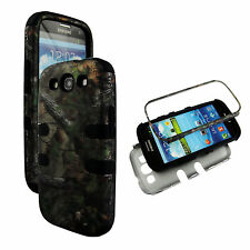 Bk Camo Forest Conifer Hybrid 3 in 1 Samsung Galaxy S  3 ,III Case Cover Hard