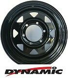 "DYNAMIC Steel Black Sunraysia 15x10"" 6x139.7 Steel Rim"