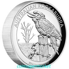 2016 Australia Kookaburra 1oz Silver Proof High Relief Coin The Perth Mint OGP!!