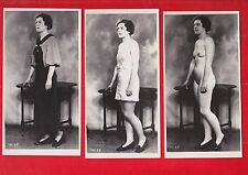 Glamour, Risqué nudes, Erotic photograph.  1930's ?. 3 photo's. a2
