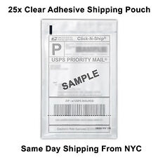 "(25) Self Adhesive Clear Mailing Shipping Label Pouch Packing List Pouch 8""x5.5"""