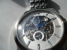 Fossil skeleton Automatic men's water resist stainless steel used watch.ME-1028