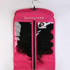 Clip In Hair Extensions Carrier Storage-Suit Case With Hanger for Virgin Hair US