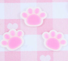 6 x Cute PAW PRINT Cabochon Embellishments DIY Decoden Kawaii Craft