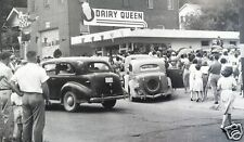 """5x7"""" photo DAIRY QUEEN DINER BURGER JOINT 40'S LOOKS LIKE GRAND OPENING CROWD"""