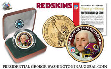 WASHINGTON REDSKINS NFL USA Mint PRESIDENTIAL Dollar Coin VELVET BOX - COA *NEW*