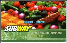 SUBWAY ALWAYS FRESH VEGETABLES #6277 BILINGUAL COLLECTIBLE GIFT CARD