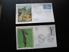 FRANCE - 2 enveloppes 1er jour 1974 (europa/club alpin) (cy75) french
