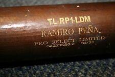 RAMIRO PENA GAME USED ZUCCI LUMBER MODEL WOOD BAT NEW YORK YANKEES BRAVES