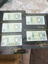 Banknotes Raffles 5 Consecutive Rare Mint One Pounds