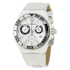 TechnoMarine Cruise Locker Chronograph Silver Dial Mens Watch 115164