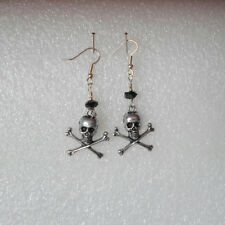 Handmade ~ Earrings ~ Skull And Crossbones