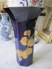 Porzellan Vase Hutschenreuther Kobald Golddekoration  Leonard Paris Montecarlo