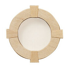 Dollhouse Houseworks Round Wood Window / Includes removable acrylic #HW5052