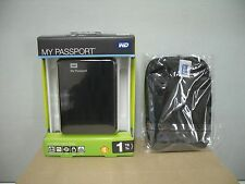 Western Digital My Passport 1 TB,External +POUCH (WDBBEP0010BBK) Portable