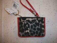 COACH PARK OCELOT PRINT ID SKINNY COIN PURSE CASE 49575 NWT MULTI COLOR