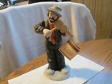 EMMETT KELLY JR NO STRINGS ATTACHED CLOWN FIGURINE BY FLAMBRO WITH TAGS