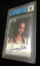JESSICA ALBA BGS 10 AUTOGRAPH 2002 Topps DARK ANGEL Max JSA CERTIFIED REAL AUTO