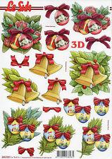 3D Motivbogen Etappenbogen mit vorgestanzten Motiven Weihnachtliche Glocken 032