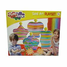 Play & Learn Sand Art Playset Toy Inc 4 x Bottles With Coloured Sand NEW BOXED