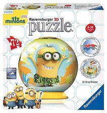 Ravensburger MINIONS 72pc 3d PUZZLE CON SUPPORTO Hawaii Globe Puzzleball