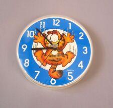 Vintage Sunbeam Garfield The Cat Round Wall Hanging Clock Retro 80s Rare Comics