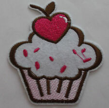 Cupcake Iron/Sew on Patch  x 1