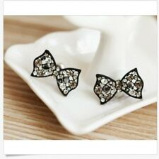 New Design Butterfly Swarovski Element Crystal Bow Knot Hollow Stud Earrings P14