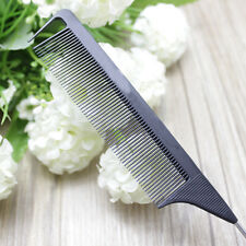 "8.66"" Fine-tooth Metal Pin Hairdressing Hair Styling Rat Tail Comb Black Tool"