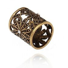 Vintage Copper HollowOut Flower Silk Scarf Clip Ring Holder Buckle Jewelry XP022