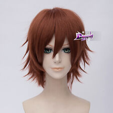 30cm Dark Orange Basic Short Layered Hair for Vocaloid Meiko Anime Cosplay Wig