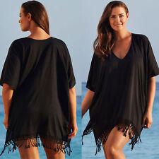 Womens Oversize Tassel Swimwear Beachwear Bikini Cover Up Kaftan Summer Dress