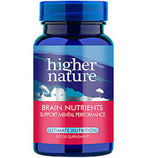 Higher Nature Brain Nutrients 90 Capsule Health Performance Supplement Nootropic