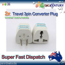 New 2x UK US EU Universal To Australia Power Plug Adaptor Travel 3 pin Converter