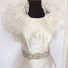 Blue by Enzoani Dabra Ivory bolero Jacket size 14 16 Bridal Vintage wedding Lace