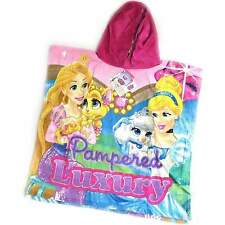 DISNEY PRINCESS PALACE PETS PONCHO GIRLS CHARACTER HOODED 100% COTTON