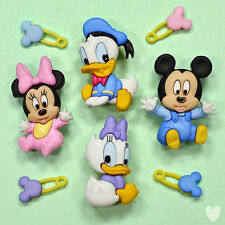 DISNEY BABIES 7722 Dress It Up Buttons - Mickey Minnie Mouse Donald Duck